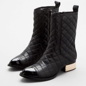 Jeffrey Campbell Zhora quilted black boots